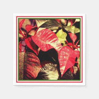 Feestelijke Poinsettia Wegwerp Servet