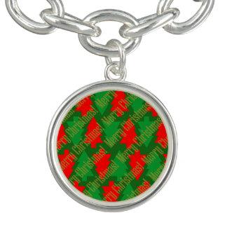 Feestelijke Rode Gouden Groene Kerstboom Armband