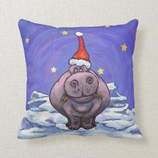 Feestelijke Vakantie Hippo Sierkussen