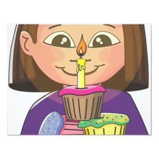Feestvarken cupcakes 10,8x13,9 uitnodiging kaart