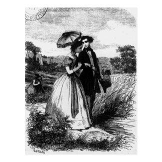 Felix DE Vandenesse en Mevrouw de Mortsauf Briefkaart