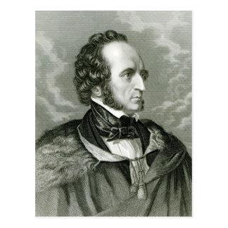 Felix Mendelssohn 2 Briefkaart