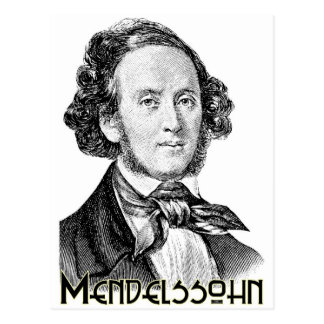 Felix Mendelssohn Briefkaart