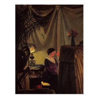 Felix Vallotton - Gabrielle Vallotton bij de Piano Briefkaart