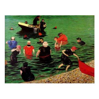 Felix Vallotton: Het baden in Etretat Briefkaart