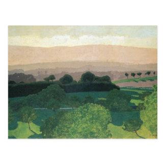 Felix Vallotton - Landschap in Romanel Briefkaart