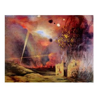 Felix Vallotton - Landschap van ruïnes en branden Briefkaart