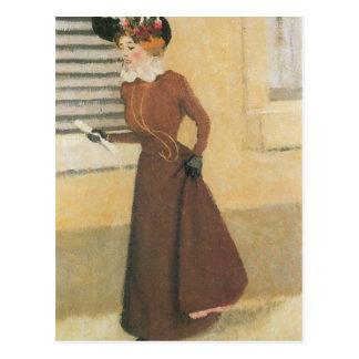 Felix Vallotton - Vrouw met pet Briefkaart