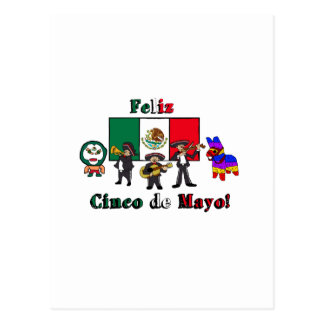 Feliz Cinco DE Mayo! De Illustratie van de Cartoon Briefkaart