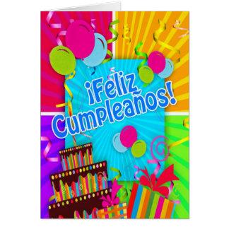 ¡ Feliz Cumpleaños met de ballonsstroom van Briefkaarten 0