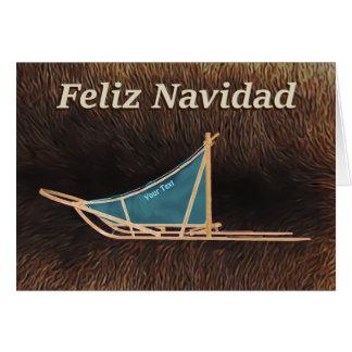Feliz Navidad - de Slee van de Hond Wenskaart