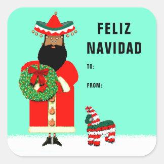 feliz Navidad giftlabels Vierkante Sticker
