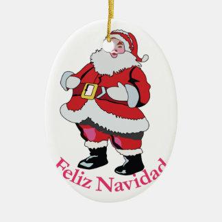 Feliz Navidad Keramisch Ovaal Ornament