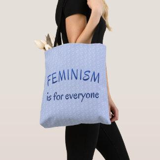 Feminisme voor gevormd iedereen blauw draagtas