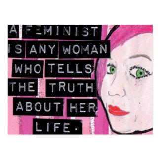Feministisch Briefkaart