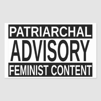 Feministische Inhoud Rechthoekige Sticker
