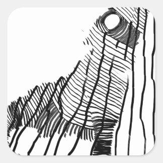 Fenrir Vierkante Sticker