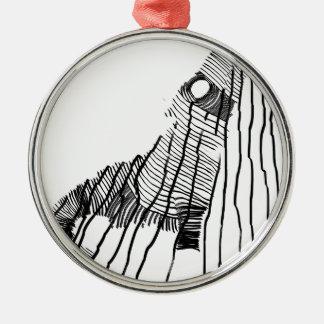Fenrir Zilverkleurig Rond Ornament