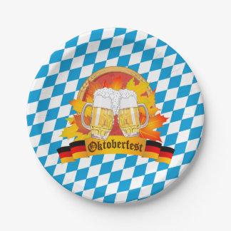 Festival van het Bier van Oktoberfest het Duitse Papieren Bordje