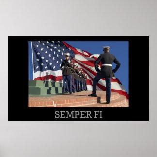 FI van Semper - de Ploeg en de vlag van het Geweer Poster