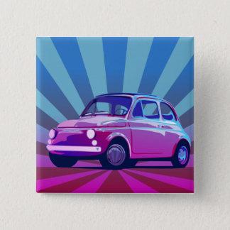 Fiat 500 Bunt Vierkante Button 5,1 Cm