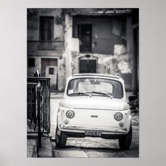 Fiat 500, Cinquecento, in het Poster van Italië