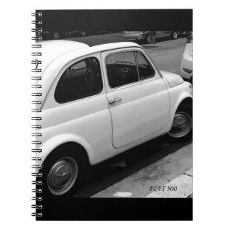 Fiat 500 Notitieboekje Ringband Notitieboek
