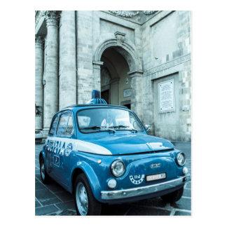 Fiat 500 Politiewagen in Italië Briefkaart