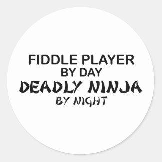 Fiddle Dodelijke 's nachts Ninja Ronde Sticker