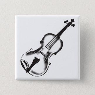 "Fiddle of Viool ""Tekening "" Vierkante Button 5,1 Cm"