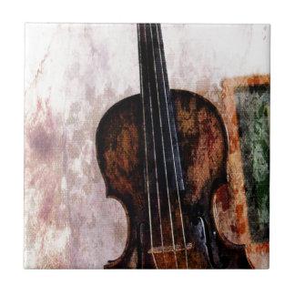 Fiddle van het impressionisme muzikale instrument tegeltje