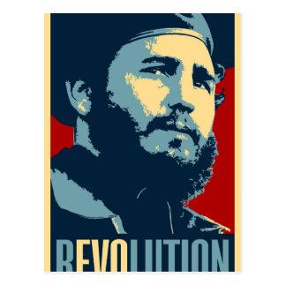 Fidel Castro - het Cubaanse President van de Briefkaart