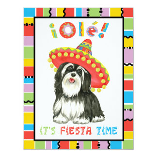 Fiesta Havanese 10,8x13,9 Uitnodiging Kaart