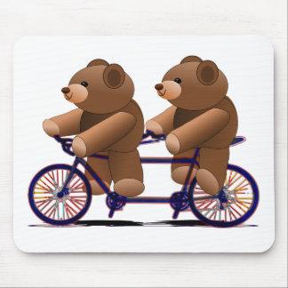 Fiets Achter elkaar, de Druk van de Teddybeer Muismat