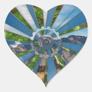 Fiets Mandala Hart Sticker