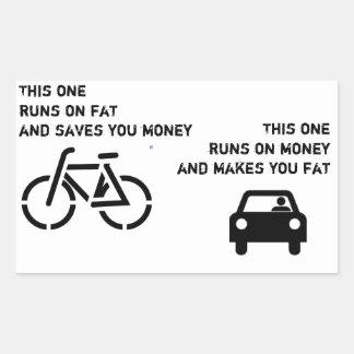 Fiets versus de Sticker van de Auto