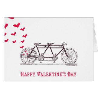 Fiets voor de Kaart die van Twee Valentijnsdag