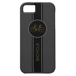 fiets zwart etiket tough iPhone 5 hoesje