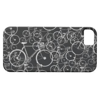 fietsen patroon in zwart-wit barely there iPhone 5 hoesje