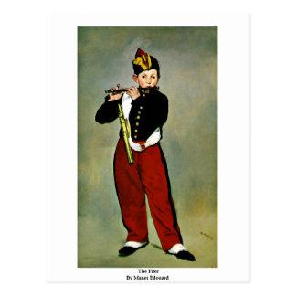 Fifer door Manet Edouard Briefkaart