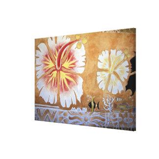 Fiji, muurschilderingart. canvas afdrukken