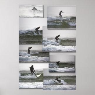 Fijne de kunstdruk van Surfin Poster