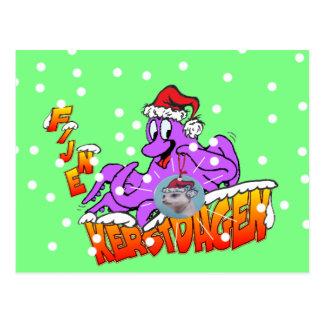 Fijne Kerstdagen Octopus Briefkaart