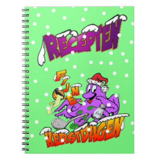 Fijne Kerstdagen Octopus Kok Recepten Notitieboek