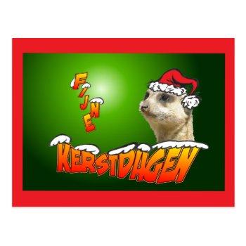 Fijne Kerstdagen Stokstaarte Groene Briefkaart