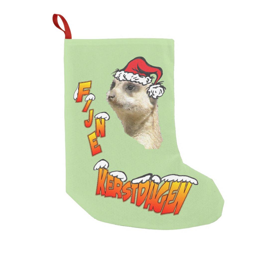 Fijne Kerstdagen Stokstaartje Kerstsok