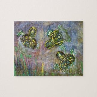 Fijne Kunst Drie het Schilderen van de Schildpad d Puzzel
