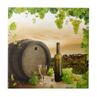 Fijne Wijn Keramisch Tegeltje