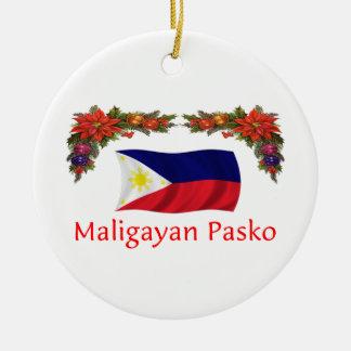 Filipijnse Kerstmis Rond Keramisch Ornament