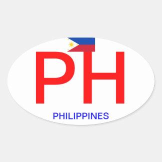 Filippijnen - de Ovale Sticker van de euro-Stijl